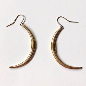 Hammered copper earrings Fairtrade